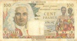 100 Francs La Bourdonnais ÎLE DE LA RÉUNION  1960 P.49a TTB