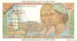 500 Francs Pointe à Pitre ÎLE DE LA RÉUNION  1960 P.51s NEUF