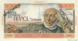 5000 Francs Schoelcher GUYANE  1946 P.26s SUP à SPL