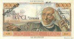 5000 Francs Schoelcher ÎLE DE LA RÉUNION  1946 P.48s pr.NEUF