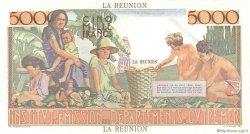 5000 Francs Schoelcher ÎLE DE LA RÉUNION  1960 P.53s pr.NEUF