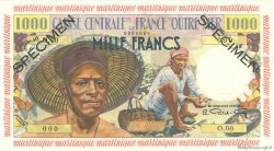 1000 Francs Pêcheur MARTINIQUE  1955 P.35s SPL+