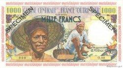 1000 Francs pêcheur MARTINIQUE  1955 P.35s SPL