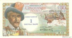 1 Nouveau Franc sur 50 Francs Belain d
