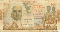 1 Nouveau Franc sur 100 F La Bourdonnais MARTINIQUE  1960 P.37 B