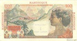 1 Nouveau Franc sur 100 F La Bourdonnais MARTINIQUE  1960 P.37 TTB+