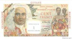 1 Nouveau Franc sur 100 F La Bourdonnais ANTILLES FRANÇAISES  1960 P.01s pr.NEUF