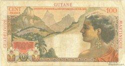 1 NF sur 100 Francs La Bourdonnais ANTILLES FRANÇAISES  1960 P.01 B+