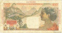1 Nouveau Franc sur 100 F La Bourdonnais ANTILLES FRANÇAISES  1960 P.01 pr.TB