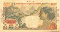 1 NF sur 100 Francs La Bourdonnais ANTILLES FRANÇAISES  1960 P.01 TTB