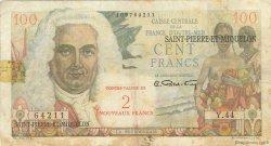 2 Nouveaux Francs sur 100 F La Bourdonnais SAINT PIERRE ET MIQUELON  1960 P.32 TB