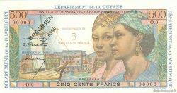 5 Nouveaux Francs sur 500 Francs Pointe à Pitre ANTILLES FRANÇAISES  1962 P.04s SPL