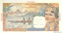 10 Nouveaux Francs sur 1000 F Union Française GUYANE  1960 P.32 SPL
