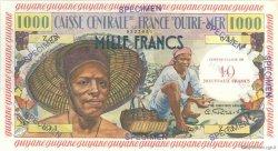 10 Nouveaux Francs sur 1000 Francs Pêcheur GUYANE  1960 P.31s pr.NEUF