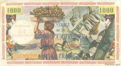10 NF sur 1000 Francs pêcheur MARTINIQUE  1960 P.39 TB