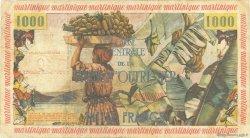 10 Nouveaux Francs sur 1000 Francs Pêcheur MARTINIQUE  1960 P.39 TB