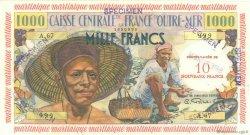 10 Nouveaux Francs sur 1000 Francs Pêcheur MARTINIQUE  1960 P.39s pr.NEUF