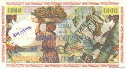 10 NF sur 1000 Francs pêcheur MARTINIQUE  1960 P.39s pr.NEUF
