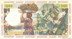10 Nouveaux Francs sur 1000 Francs Pêcheur ANTILLES FRANÇAISES  1960 P.02 TTB