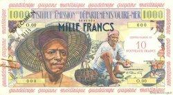 10 Nouveaux Francs sur 1000 Francs Pêcheur ANTILLES FRANÇAISES  1960 P.02s pr.SUP