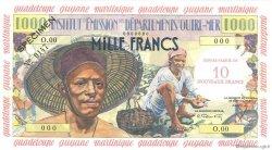 10 Nouveaux Francs sur 1000 Francs Pêcheur ANTILLES FRANÇAISES  1960 P.02s pr.NEUF