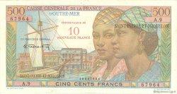 10 NF sur 500 Francs Pointe à Pitre SAINT PIERRE ET MIQUELON  1964 P.33 TTB+