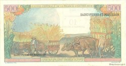 10 Nouveaux Francs sur 500 Francs Pointe à Pitre SAINT PIERRE ET MIQUELON  1964 P.33 TTB+