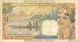 20 Nouveaux Francs sur 1000 Francs Union Française ÎLE DE LA RÉUNION  1964 P.55b TB