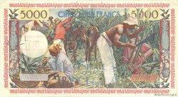 50 Nouveaux Francs sur 5000 Francs Antillaise MARTINIQUE  1960 P.40 TTB