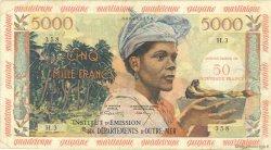 50 Nouveaux Francs sur 5000 Francs Antillaise ANTILLES FRANÇAISES  1960 P.03 TB
