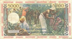 50 Nouveaux Francs sur 5000 Francs Antillaise ANTILLES FRANÇAISES  1960 P.03 TB+