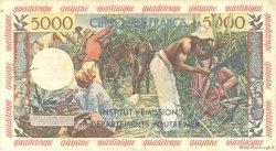 50 Nouveaux Francs sur 5000 Francs Antillaise ANTILLES FRANÇAISES  1960 P.03 TTB