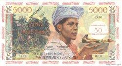 50 Nouveaux Francs sur 5000 Francs Antillaise ANTILLES FRANÇAISES  1960 P.03s SPL