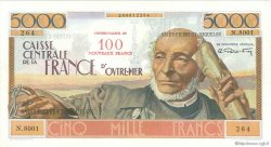 100 NF sur 5000 Francs Schoelcher SAINT PIERRE ET MIQUELON  1960 P.35 TTB+