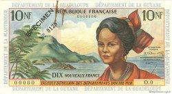 10 Nouveaux Francs type 1962 ANTILLES FRANÇAISES  1962 P.05s TTB+