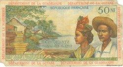 50 Nouveaux Francs ANTILLES FRANÇAISES  1962 P.06a pr.TB