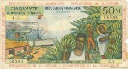 50 Nouveaux Francs ANTILLES FRANÇAISES  1962 P.06a B à TB