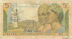 5 Francs ANTILLES FRANÇAISES  1966 P.07b pr.TB