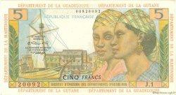 5 Francs type 1964 ANTILLES FRANÇAISES  1966 P.07b TTB+