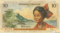 10 Francs type 1962 modifié 1964 ANTILLES FRANÇAISES  1964 P.08a B