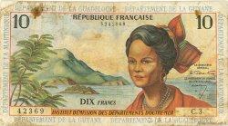 10 Francs type 1962 modifié 1964 ANTILLES FRANÇAISES  1964 P.08a pr.B