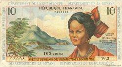 10 Francs type 1962 modifié 1964 ANTILLES FRANÇAISES  1964 P.08a TB+