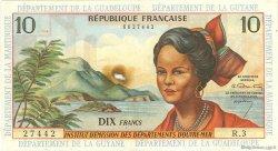 10 Francs ANTILLES FRANÇAISES  1964 P.08a TTB