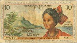 10 Francs ANTILLES FRANÇAISES  1964 P.08a AB