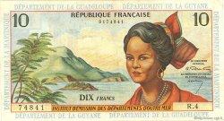 10 Francs ANTILLES FRANÇAISES  1964 P.08a TB+