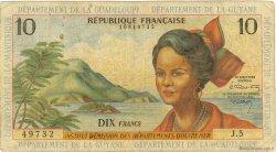 10 Francs type 1962 modifié 1964 ANTILLES FRANÇAISES  1966 P.08b B