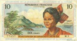 10 Francs type 1962 modifié 1964 ANTILLES FRANÇAISES  1966 P.08b TB+