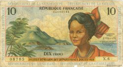 10 Francs type 1962 modifié 1964 ANTILLES FRANÇAISES  1966 P.08b pr.B