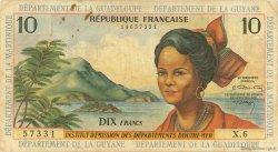 10 Francs type 1962 modifié 1964 ANTILLES FRANÇAISES  1966 P.08b B+