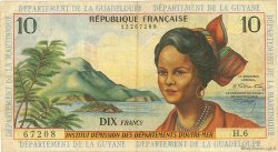 10 Francs type 1962 modifié 1964 ANTILLES FRANÇAISES  1966 P.08b pr.TTB